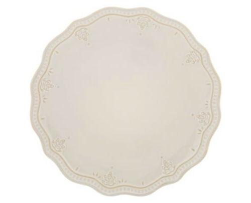 The Lace Dinner Plates of White Linen