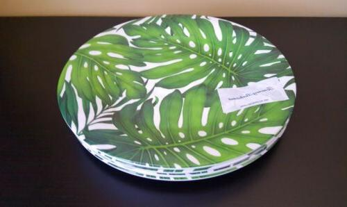 Tommy Tropical Leaves Plates Set 4