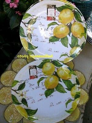 NICOLE MILLER Yellow Floral MELAMINE Set