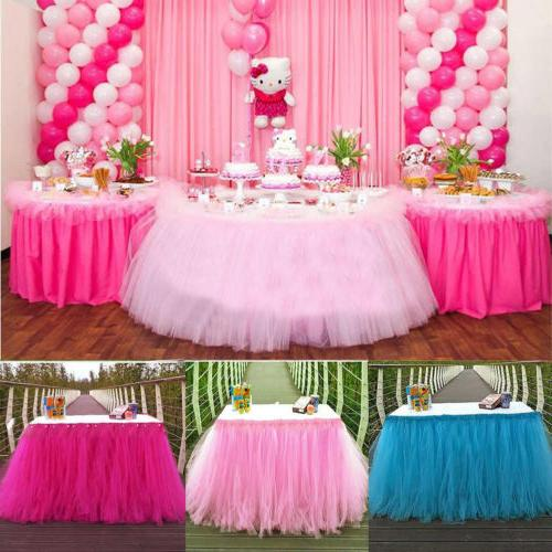 Wedding Party Tulle Skirt Cover Birthday Baby