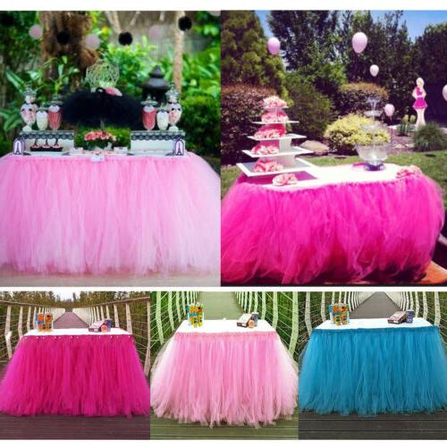 wedding party tulle table skirt tableware cover