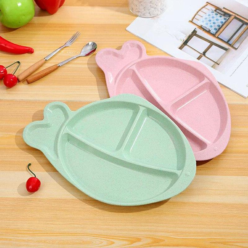 Wheat Set Baby <font><b>Plate</b></font> Infant Children Food Container Dish for Kids