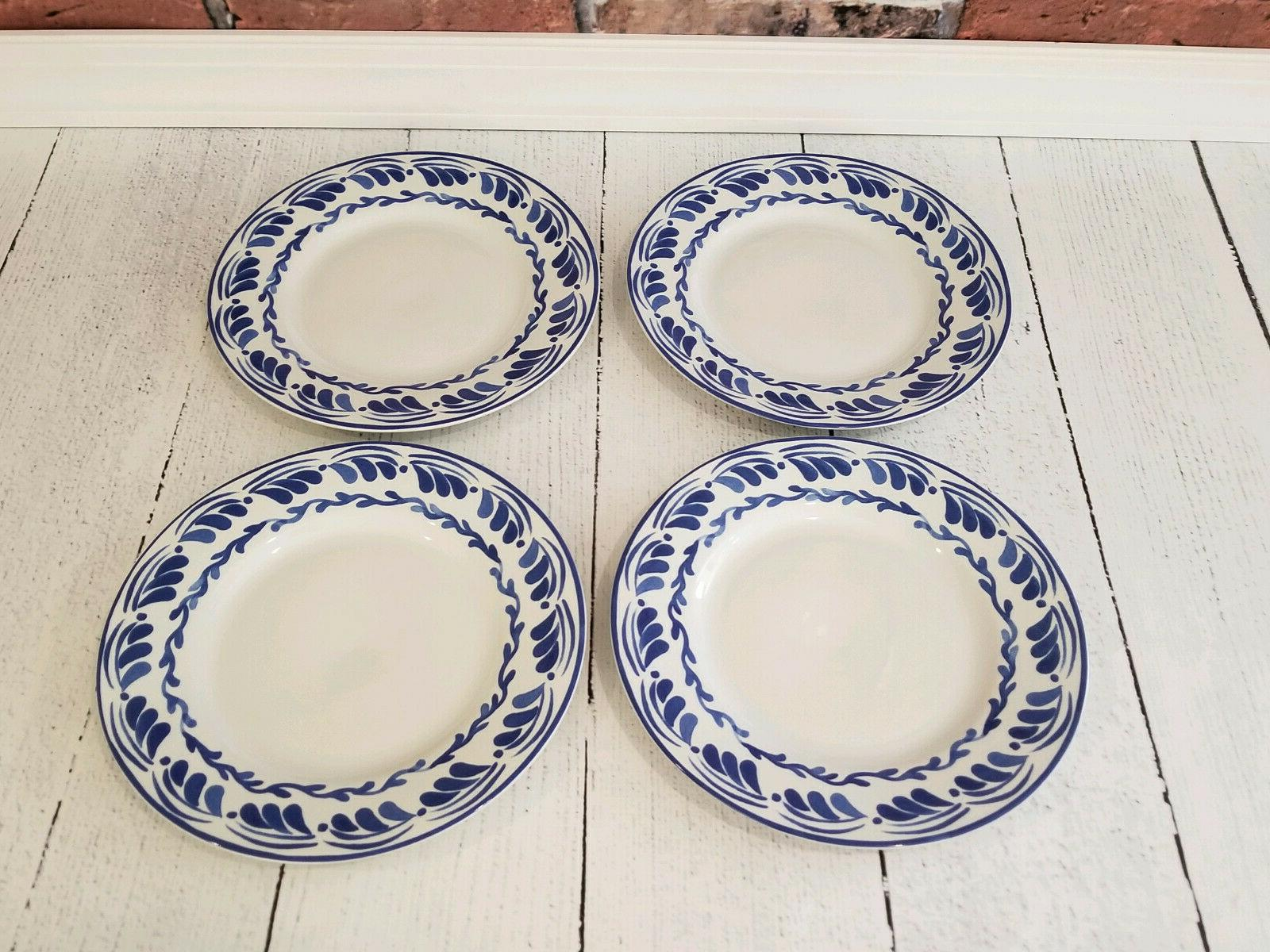 Williams AERIN Blue Plates, Set of 4 NEW IN