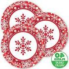 Winter Holiday Red White Snowflake Christmas Holiday Party 8