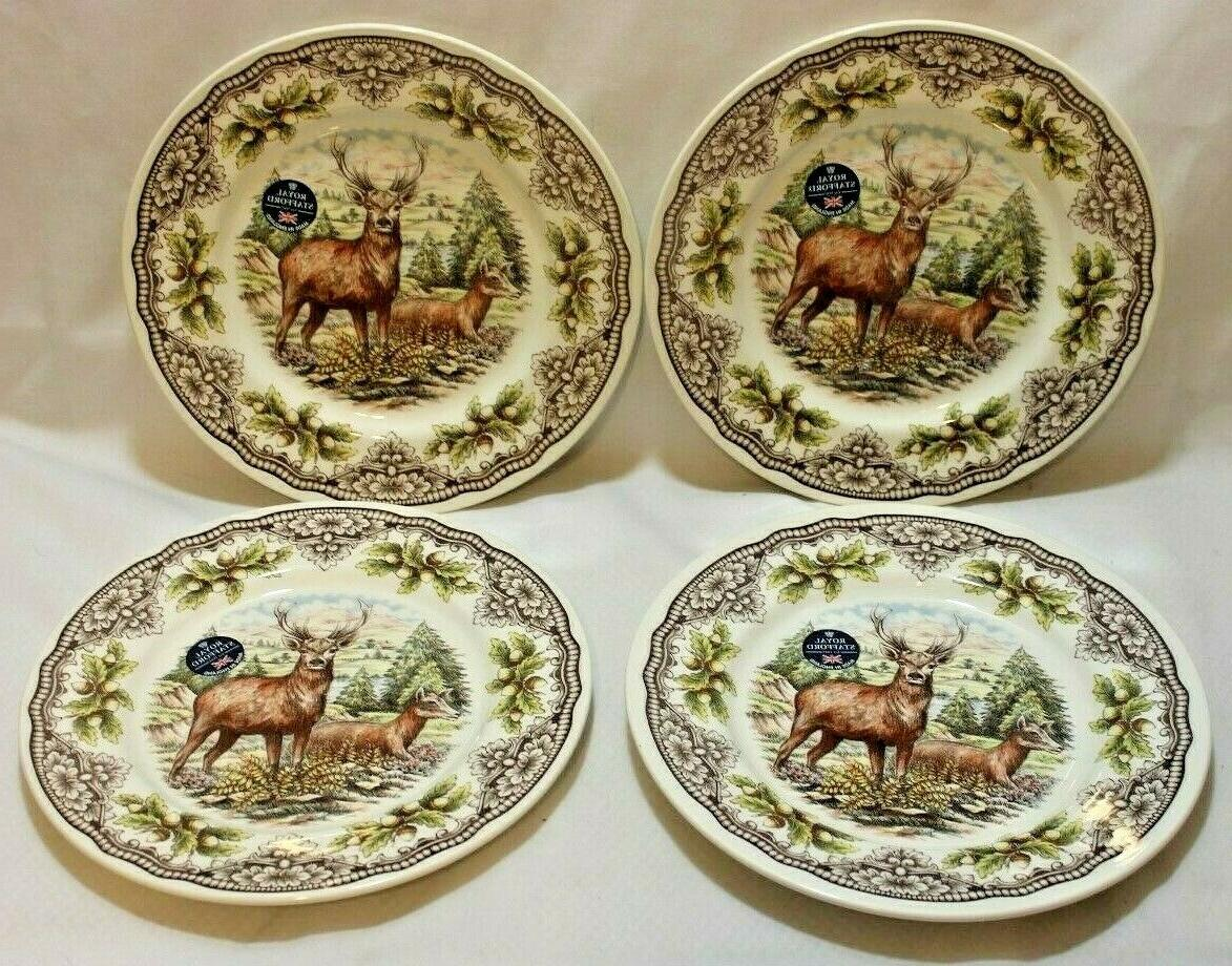 Royal Woodland Deer Porcelain of Four