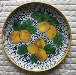 IL Mulino Lemon Tuscan Melamine Dinner Plates Set Of 4. New!