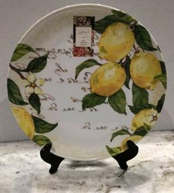 Nicole Miller Lemon Tuscan Melamine Dinner Plates ~ Set of 4