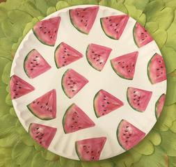 lightweight melamine watermelon matte dinner plates 6