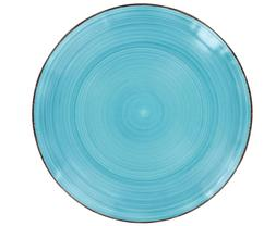 Lots OF Royal Norfolk Turquoise Swirl Stoneware Plates, 10½
