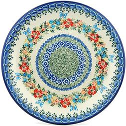 Polish Pottery Lunch Dinner Plate 10-inch Corn Flower Butter
