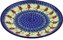 Polish Pottery Lunch Plate 10-inch Redbird On A Wire