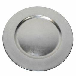 Luxurious Silver Round Charger Dinner Plates 13 inch Set of