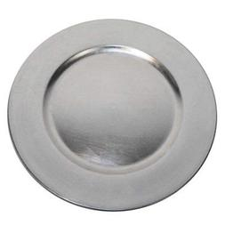 luxurious silver round charger dinner plates 13