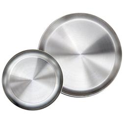 Immokaz Matte Polished 9.0 inch 304 Stainless Steel Round Pl