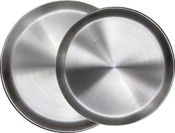 Immokaz Matte Polished 12.0 inch 304 Stainless Steel Round P