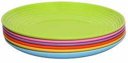 Melange 6-Piece  Melamine Dinner Plate Set  | Shatter-Proof