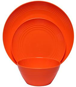 Melange 12-Piece  Melamine Dinnerware Set  | Shatter-Proof a