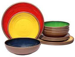 melamine dinnerware set shatter proof