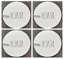 "Set of 4 Rae Dunn 8"" Melamine Plates Beach - Artisan Collect"