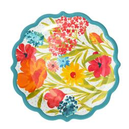 The Pioneer Woman Melamine Sunny Days Aqua 10.75-Inch Dinner