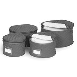 Richards Homewares Set of 4 Micro Fiber Quilted Deluxe Plate