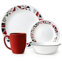 Corelle 16 Piece Modern and Dynamic Design Livingware Dinner