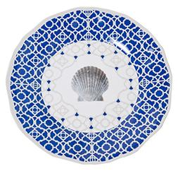 Galleyware Moroccan Shell Melamine Non-Skid Dinner Plates, S