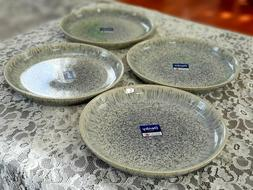 "NEW Denby China HALO SPECKLE Dinner Plates - Set of 4; 10"" d"