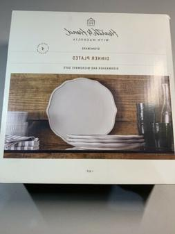 NEW !! Hearth And Hand Magnolia Stoneware Dinner Plates Set