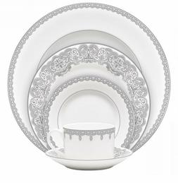 NEW Waterford LISMORE LACE PLATINUM - 5 Piece PLACE SETTING