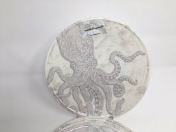 "New Tommy Bahama Melamine 11"" Dinner Plates Sea Life Octopus"