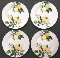 New Set of 4 Royal Norfolk Lemons Dinner Plates Citrus Dishe
