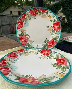 NEW PIONEER WOMAN TWO DINNER PLATES VINTAGE FLORAL PATTERN T