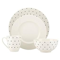 kate spade new york Larabee Dot Cream Stoneware 4-Piece Plac