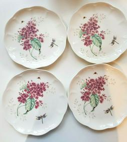 NWT Lenox Fine China Dinner Plates Set of 4- Butterfly Meado