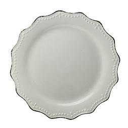 "10 Strawberry Street Oxford 11"" Dinner Plate, Set of 6, Crea"