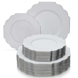 PARTY DISPOSABLE 40 PC DINNERWARE SET | 20 Dinner Plates and