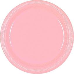 Amscan Party Ready Disposable Round Dinner Plates , Pink, 7