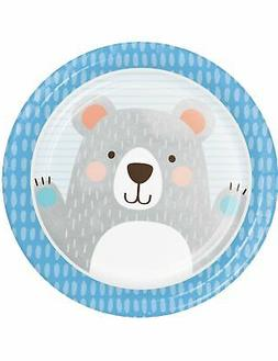 Creative Converting Party Supplies, Bear Party Paper Plates,