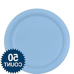 Amscan Pastel Blue Paper Plates Big Party Pack, 50 Ct.
