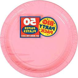 Amscan Amscan New Pink Big Party Pack Dinner Plates , 1, pin