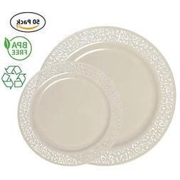 plastic dinnerware set lace collection