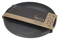 "EVO Sustainable Goods 10"" Plate, Set of Four, Black"