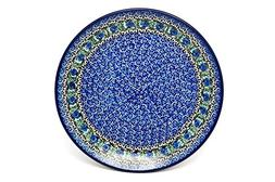 Polish Pottery Plate - Dinner  - Peacock Feather