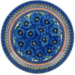 Polish Pottery Dinner Plate 11-inch Regal Bouquet UNIKAT