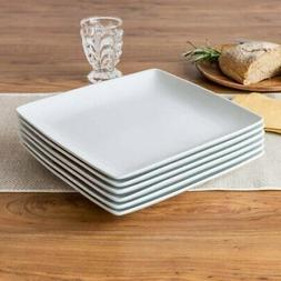 Better Homes and Gardens Porcelain Coupe Square Dinner Plate