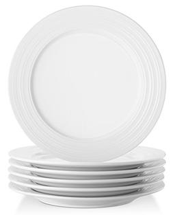 Lifver 8-inch Porcelain Decorative Rims Lunch Plates/Appetiz