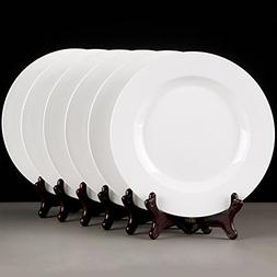 "MIXJOY 6-Pieces Porcelain 10"" Dinner Plate Set"