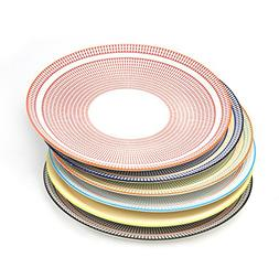 Y YHY 6 Pcs 10.5-inch Porcelain Dinner Plates, Square Round