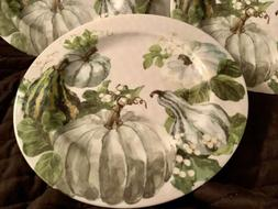 Pumpkin Harvest MELAMINE Dinner Plates, BRAND NEW Beautiful